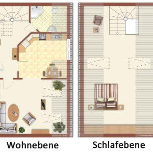 Maisonette Ferienwohnung auf zwei Ebenen